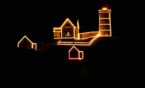 My Favorite Things - The Lighting of Nubble Lighthouse, Maine - New